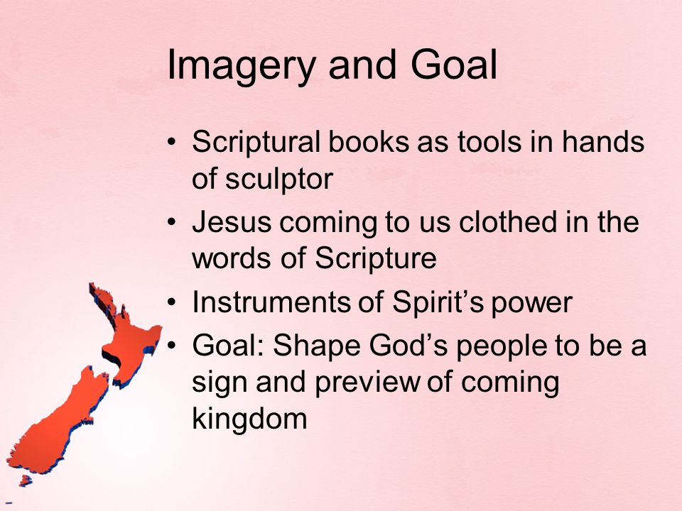 Imagery and Goal Scriptural books as tools in hands of sculptor