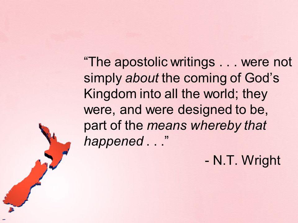 The apostolic writings