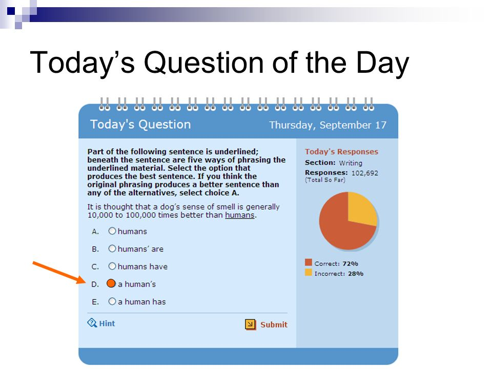 Today's Question of the Day