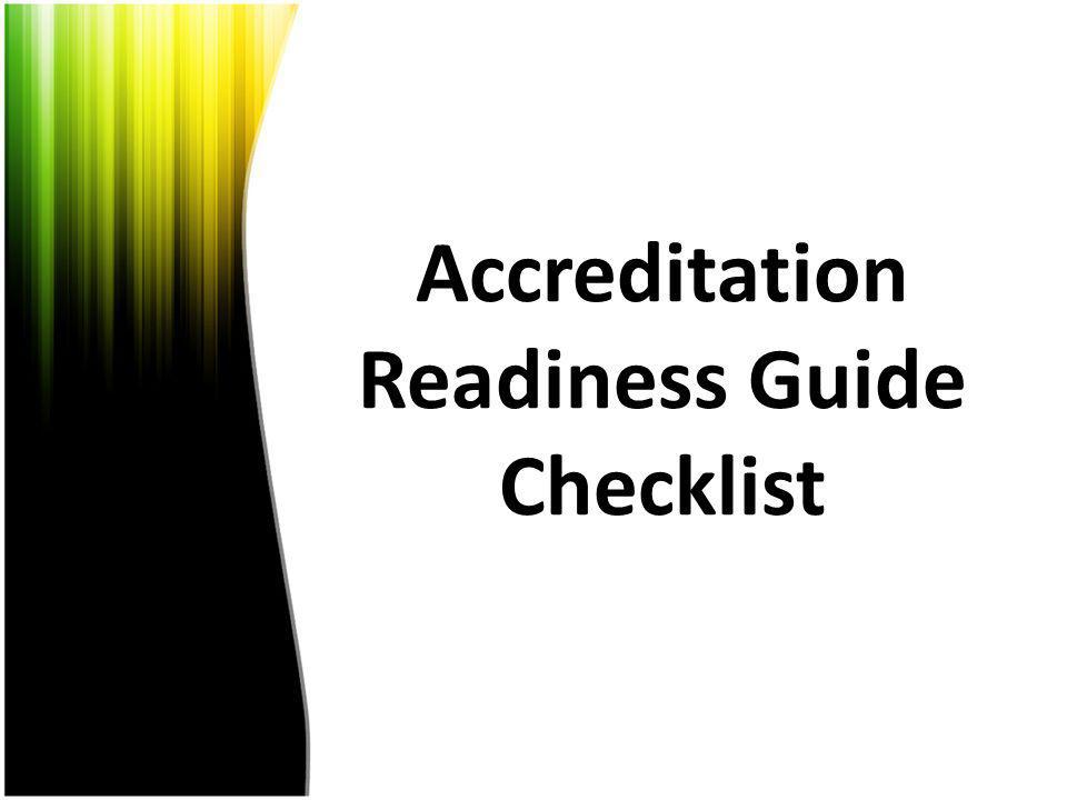 Accreditation Readiness Guide Checklist