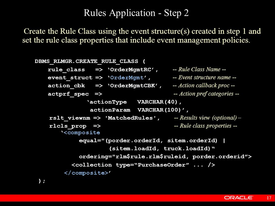 Rules Application - Step 2