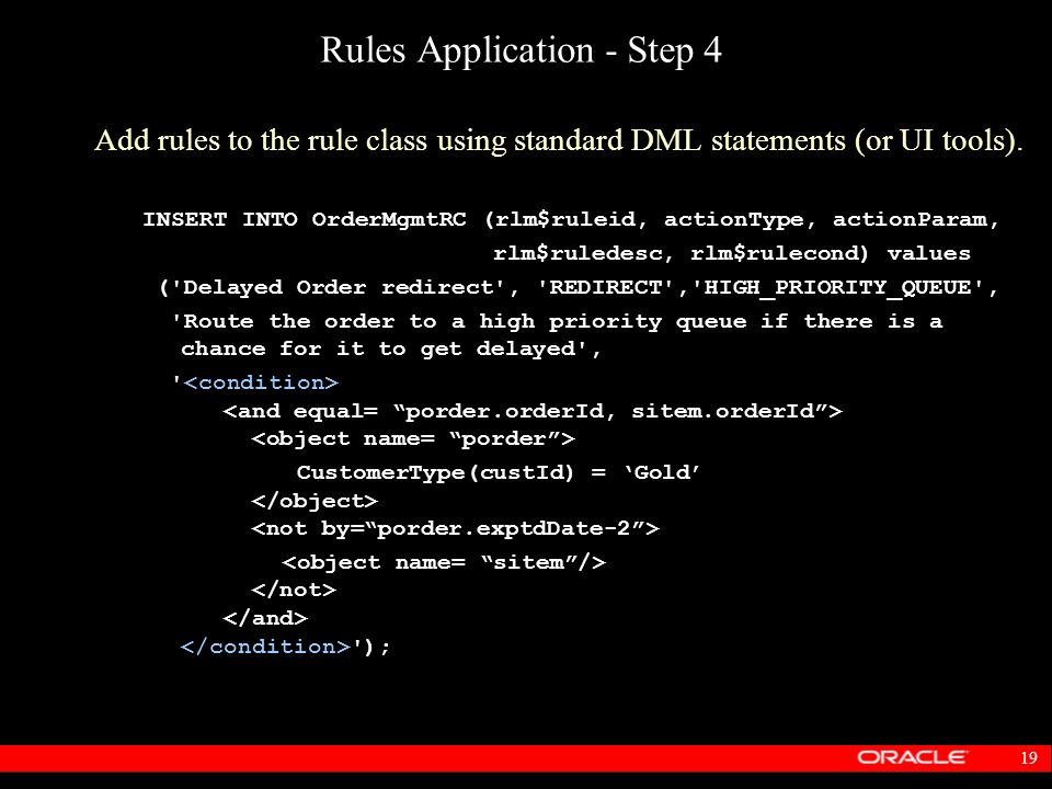 Rules Application - Step 4