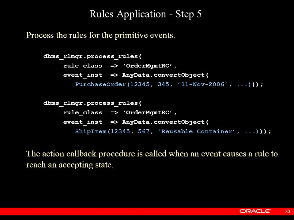 Rules Application - Step 5