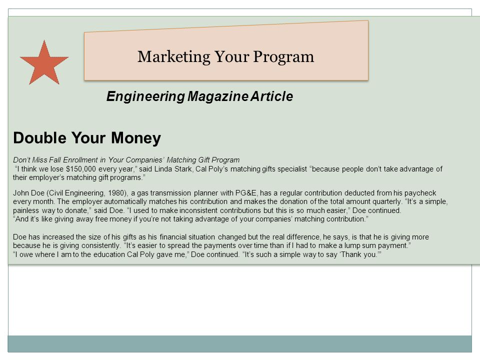 Marketing Your Program