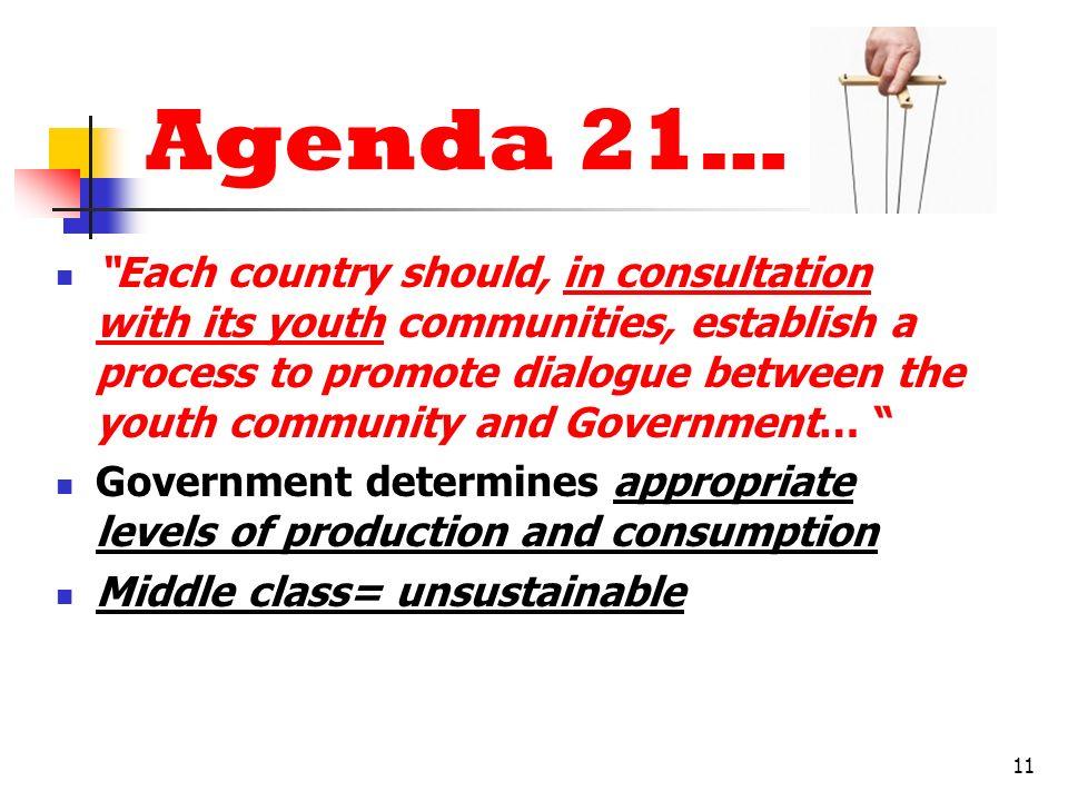 Agenda 21…