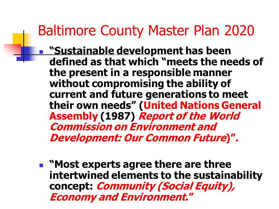 Baltimore County Master Plan 2020