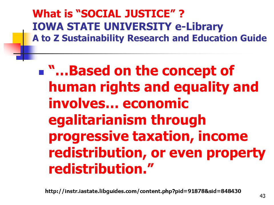 What is SOCIAL JUSTICE