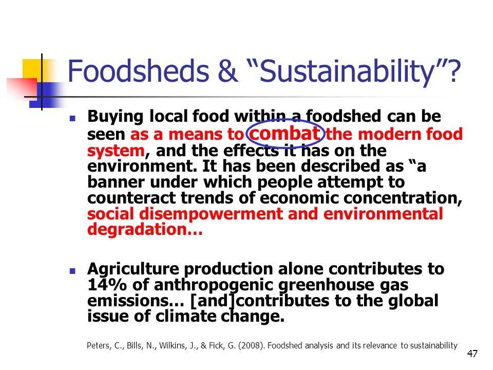 Foodsheds & Sustainability