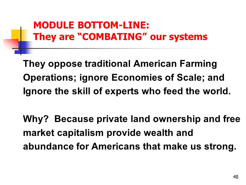 MODULE BOTTOM-LINE: They are COMBATING our systems
