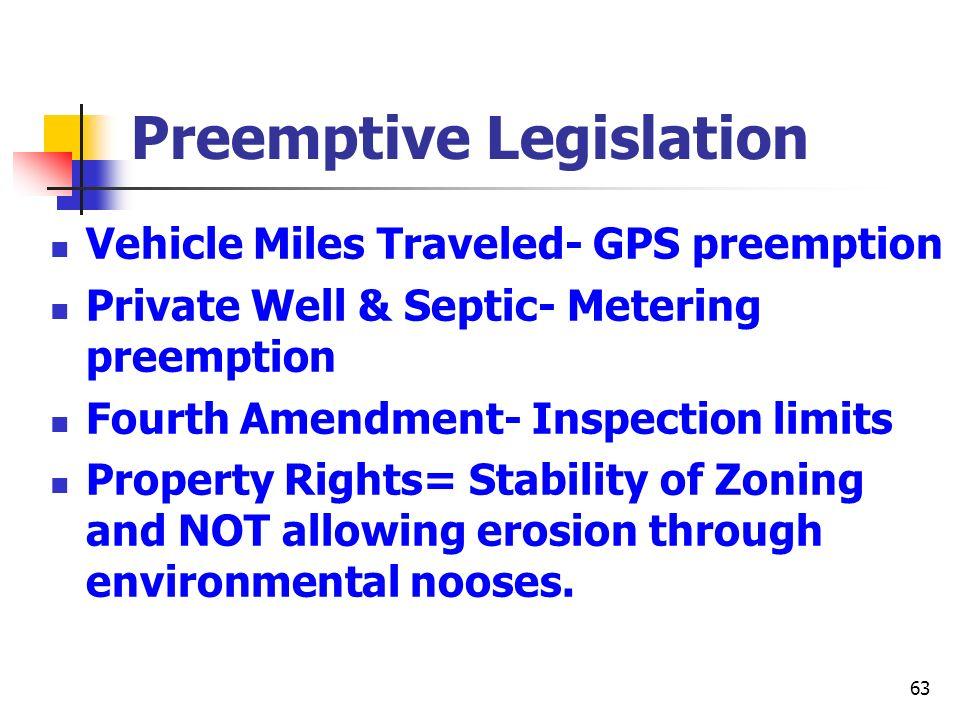 Preemptive Legislation
