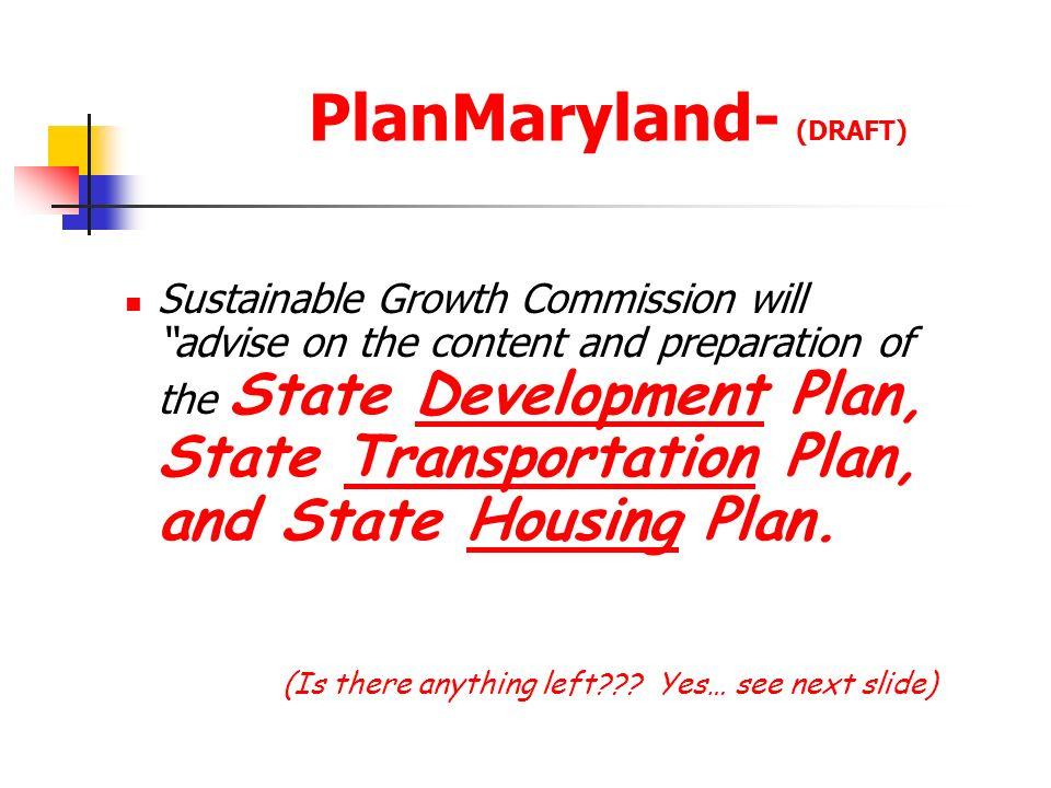 PlanMaryland- (DRAFT)