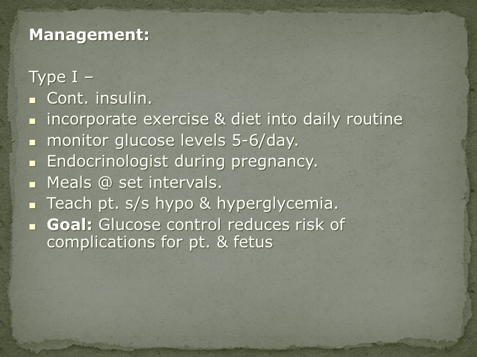 incorporate exercise & diet into daily routine
