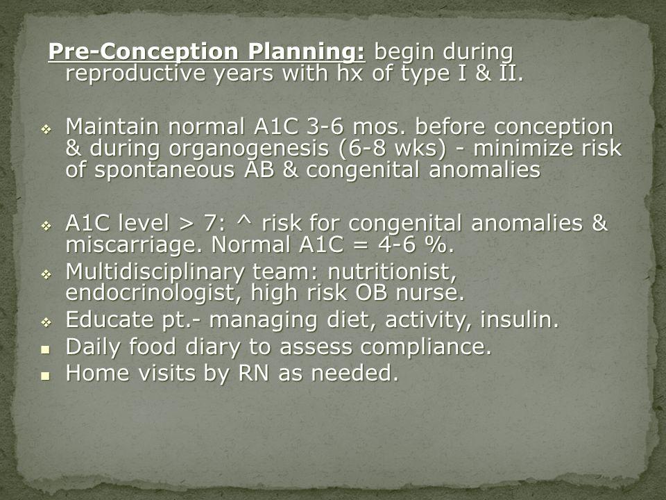 Educate pt.- managing diet, activity, insulin.