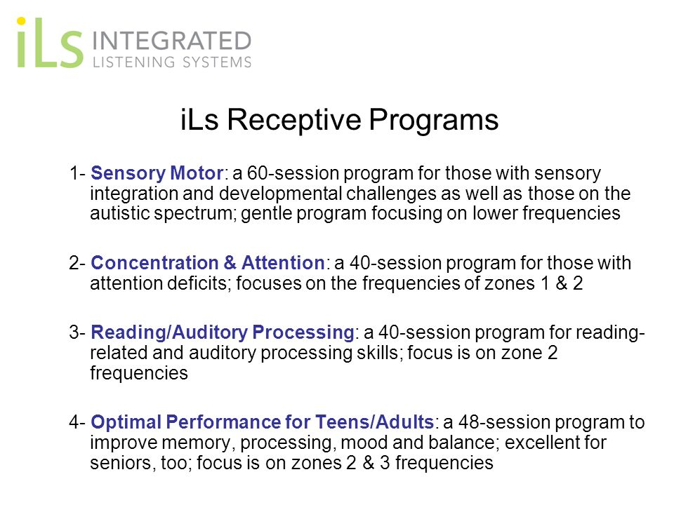 iLs Receptive Programs
