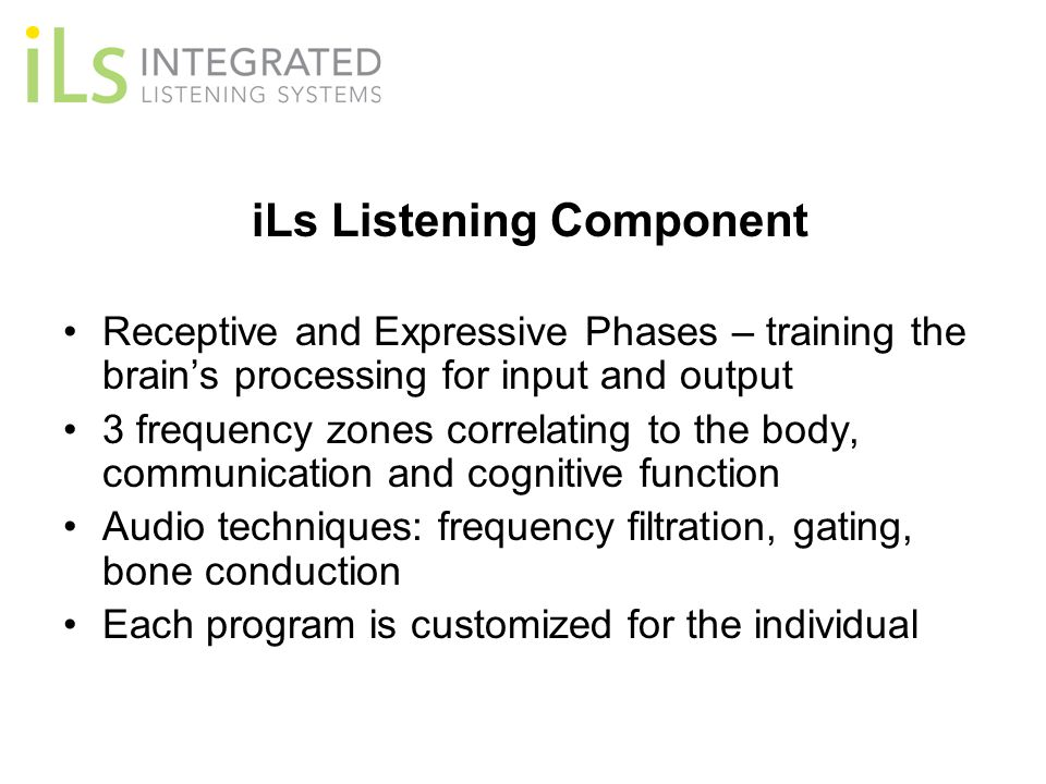 iLs Listening Component