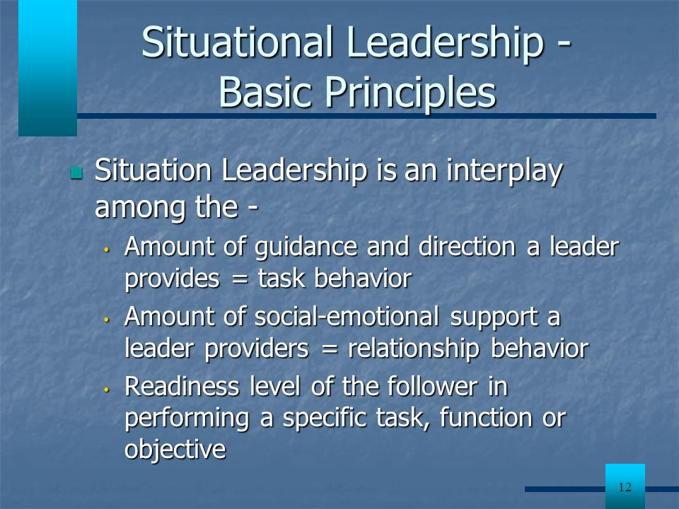 Situational Leadership - Basic Principles