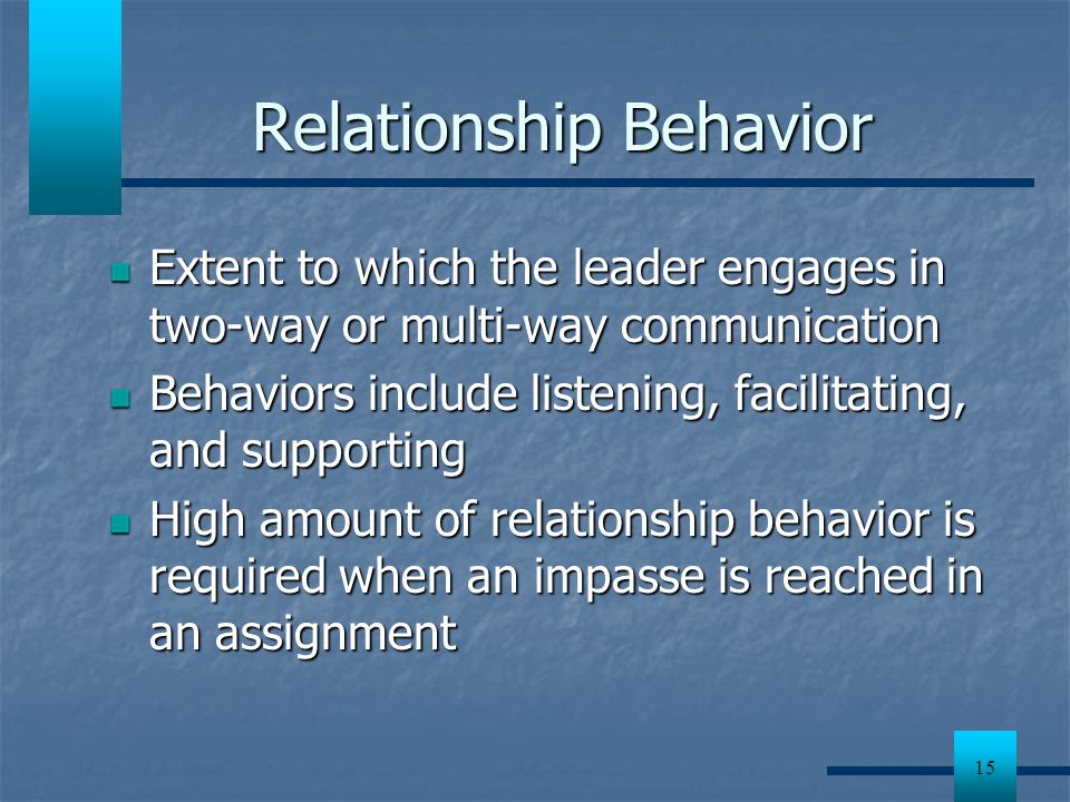 Relationship Behavior