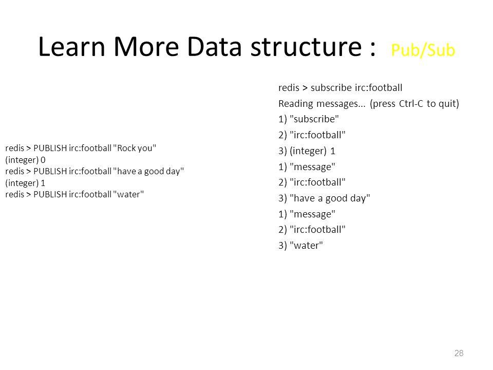 Learn More Data structure : Pub/Sub
