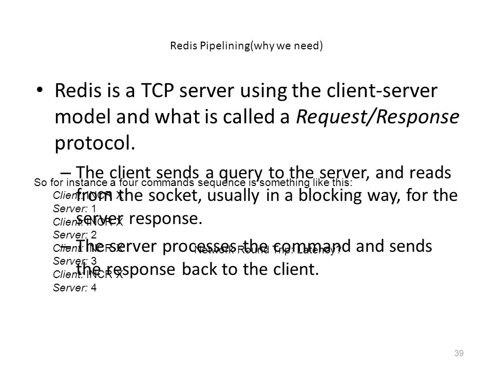 Redis Pipelining(why we need)