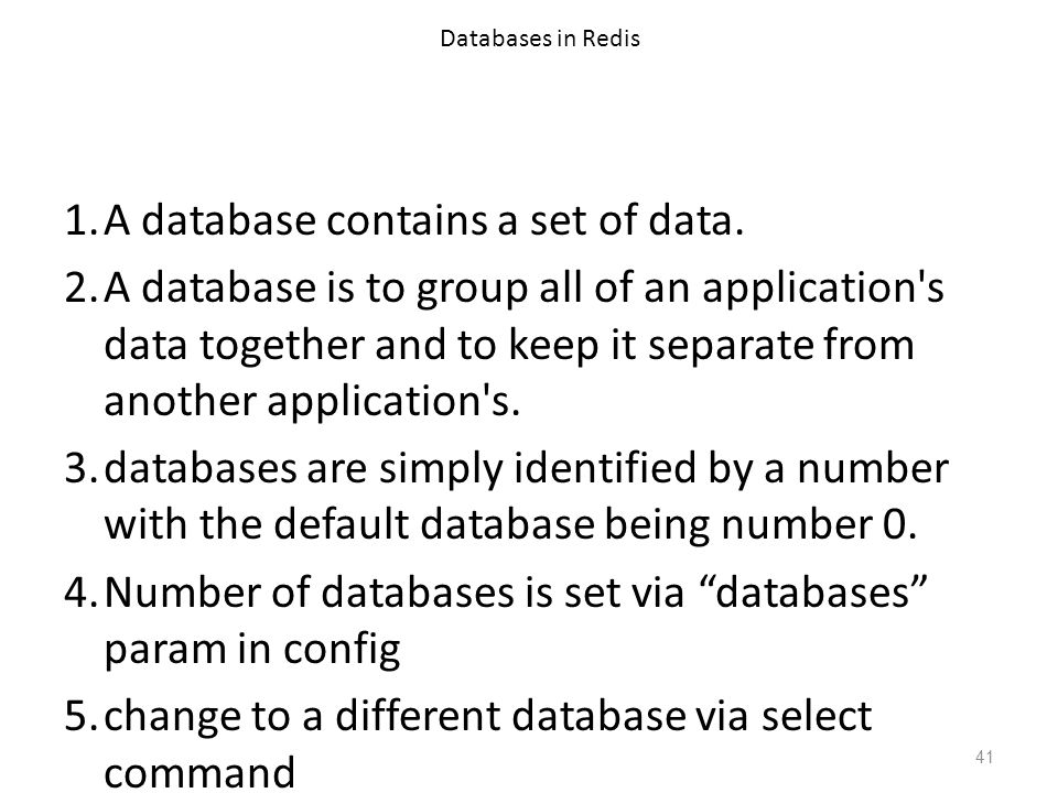 A database contains a set of data.