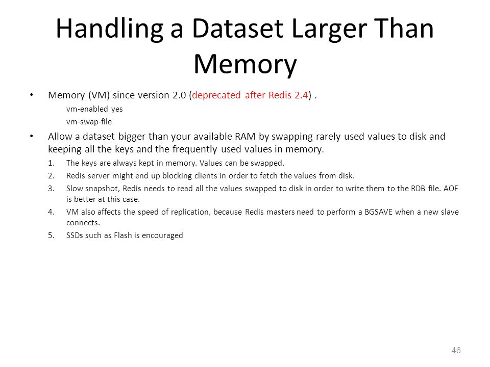 Handling a Dataset Larger Than Memory