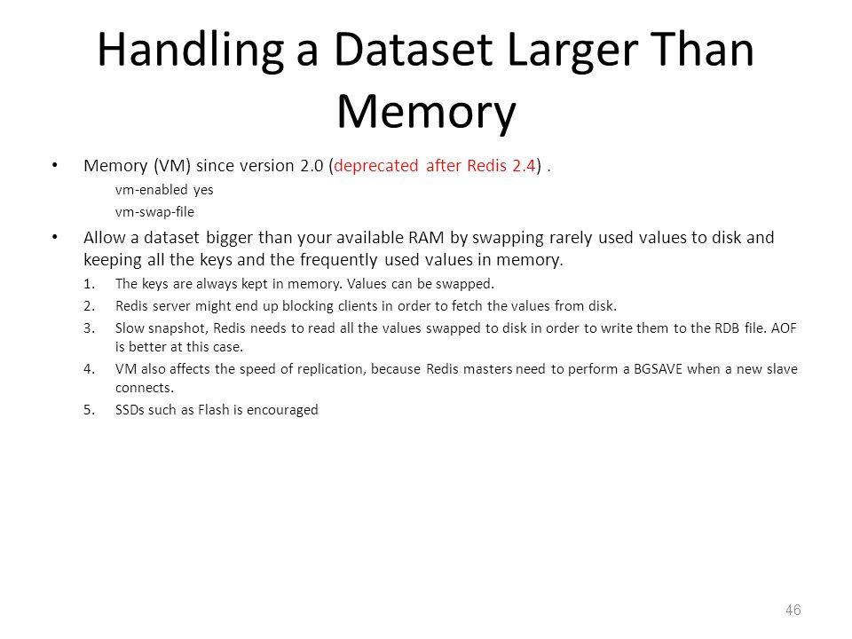 Handling a Dataset Larger Than Memory