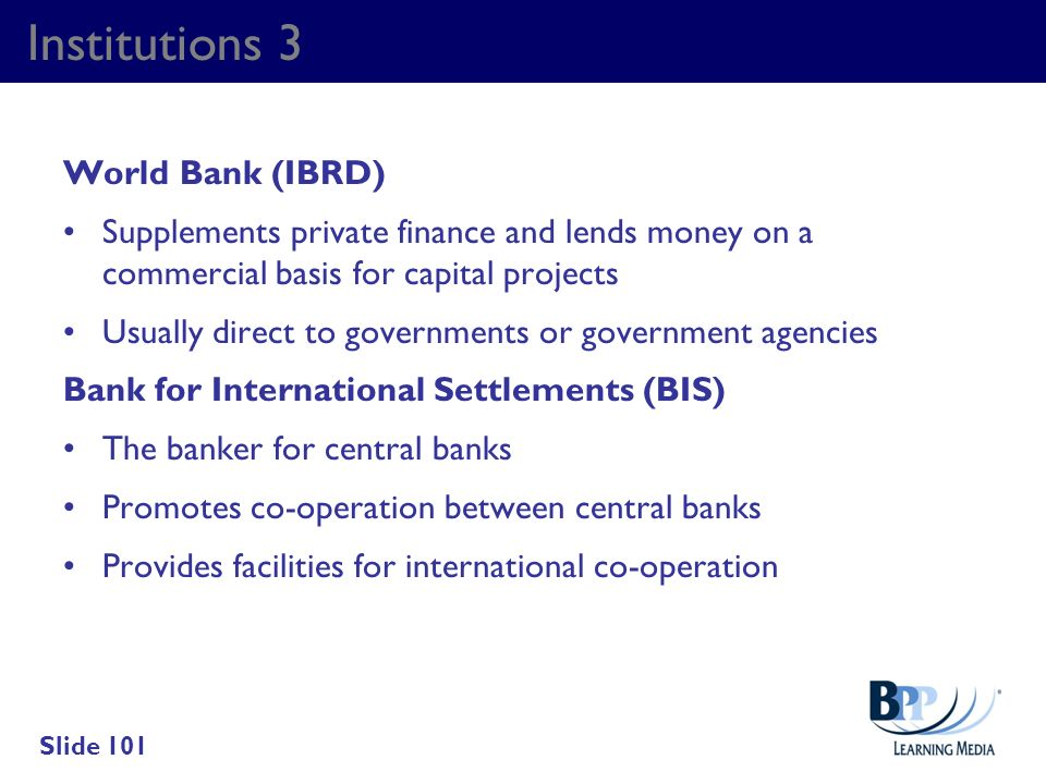 Institutions 3 World Bank (IBRD)