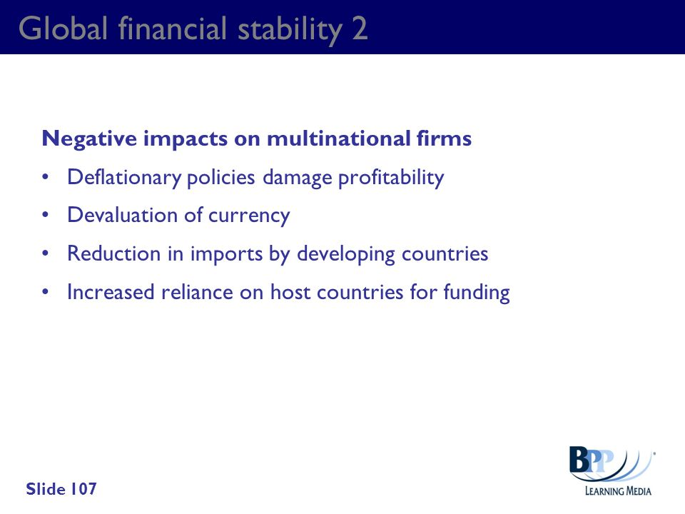 Global financial stability 2