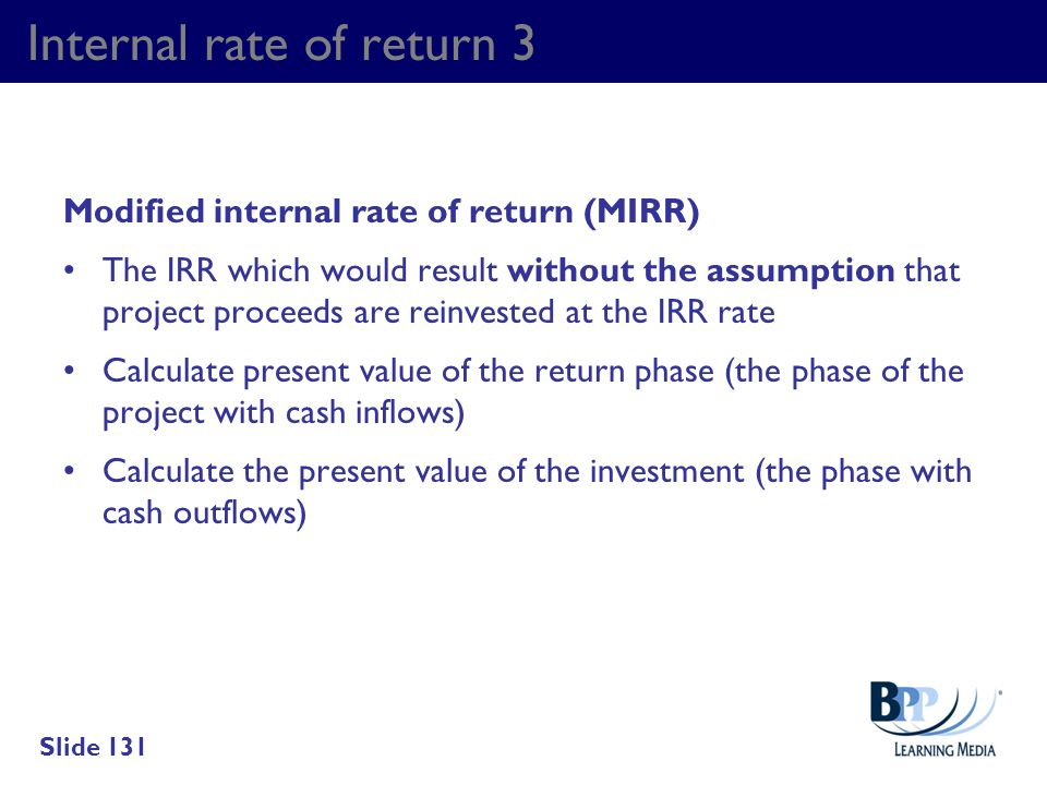 Internal rate of return 3