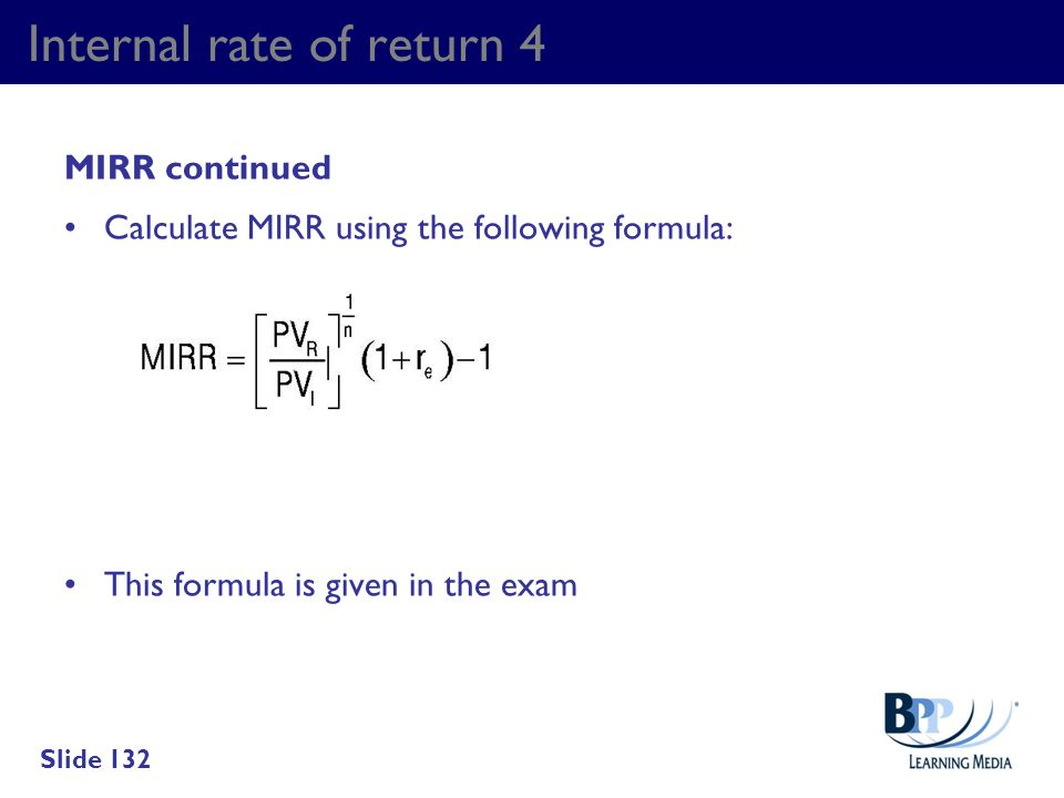 Internal rate of return 4