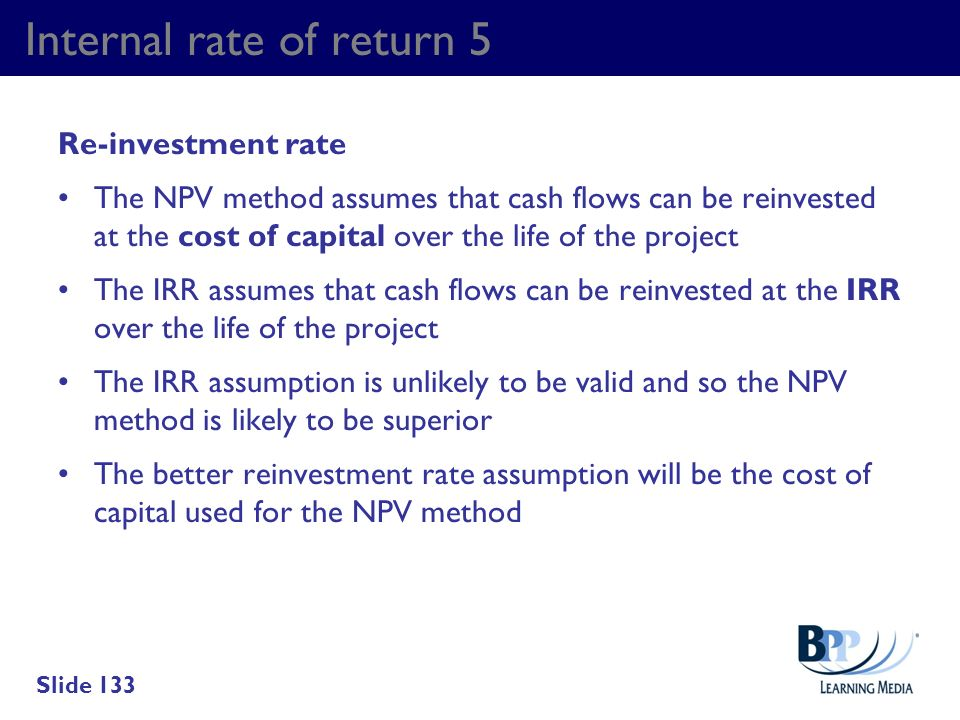 Internal rate of return 5