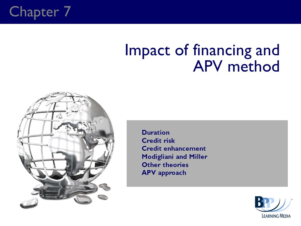 Impact of financing and APV method