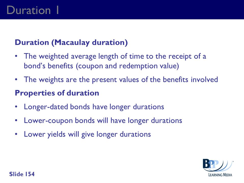 Duration 1 Duration (Macaulay duration)