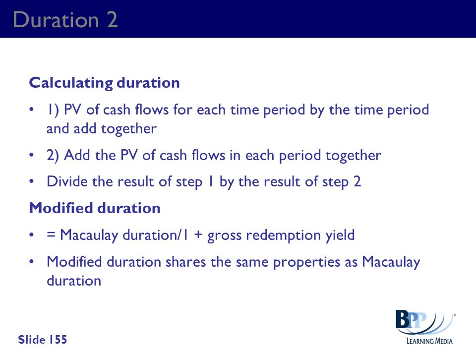 Duration 2 Calculating duration