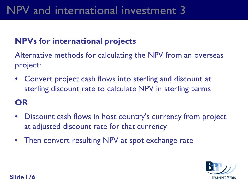 NPV and international investment 3