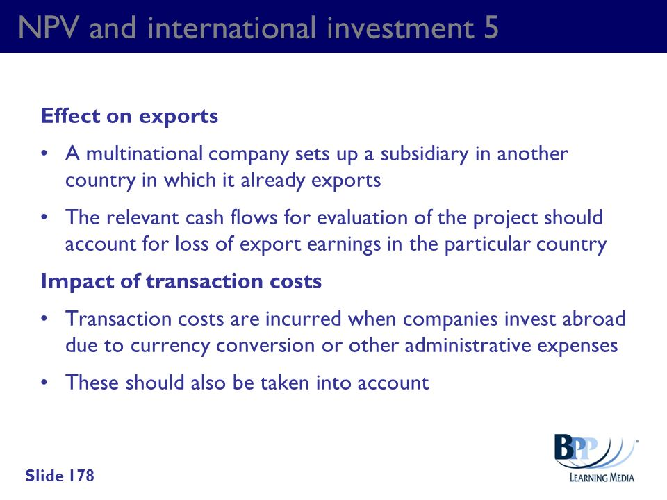 NPV and international investment 5