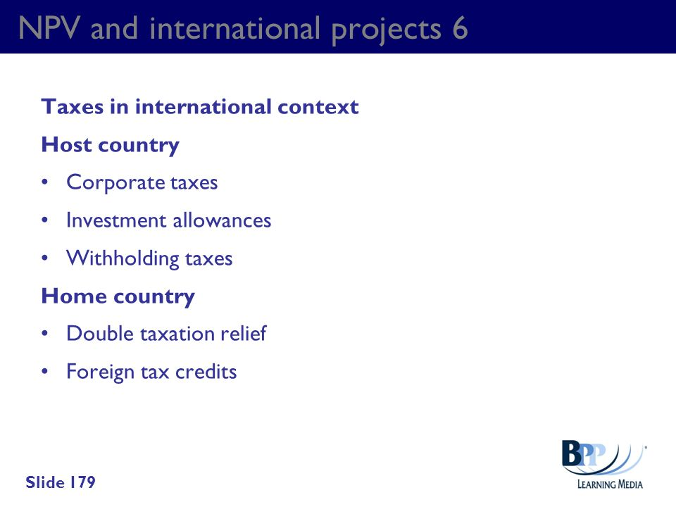 NPV and international projects 6