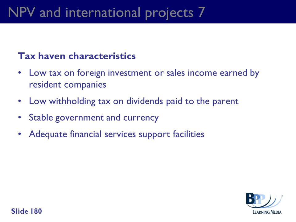 NPV and international projects 7