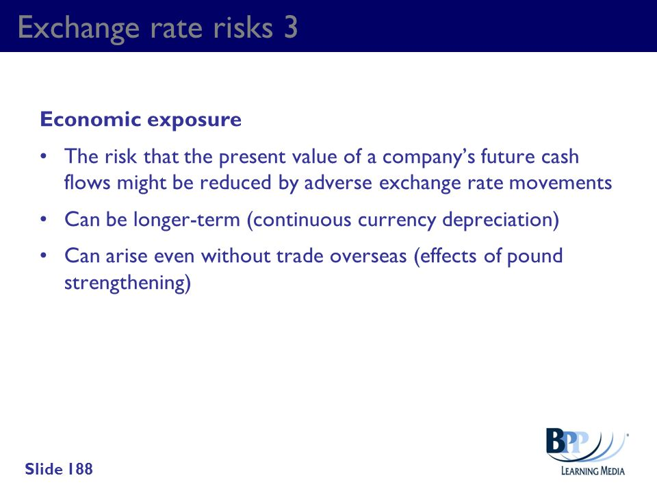 Exchange rate risks 3 Economic exposure