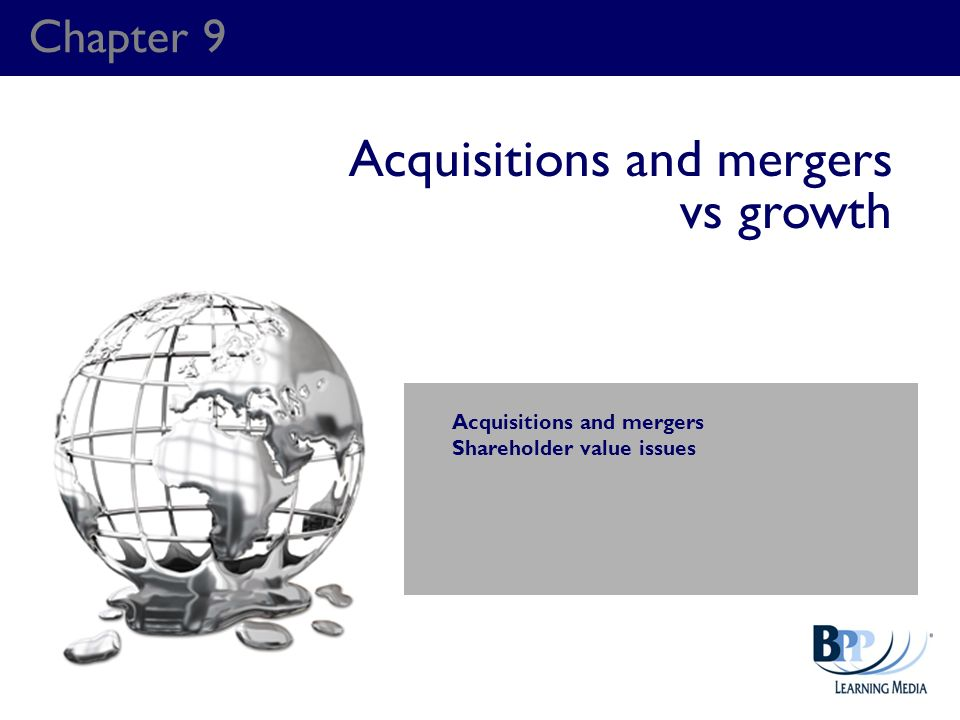 Acquisitions and mergers vs growth