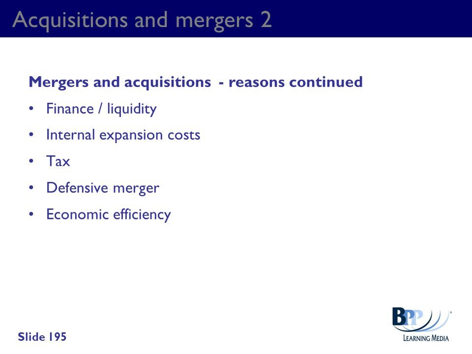 Acquisitions and mergers 2
