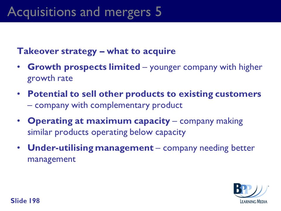Acquisitions and mergers 5