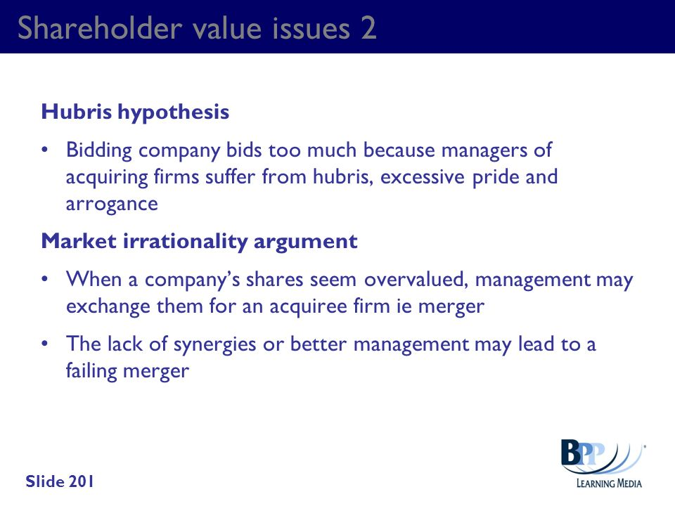 Shareholder value issues 2