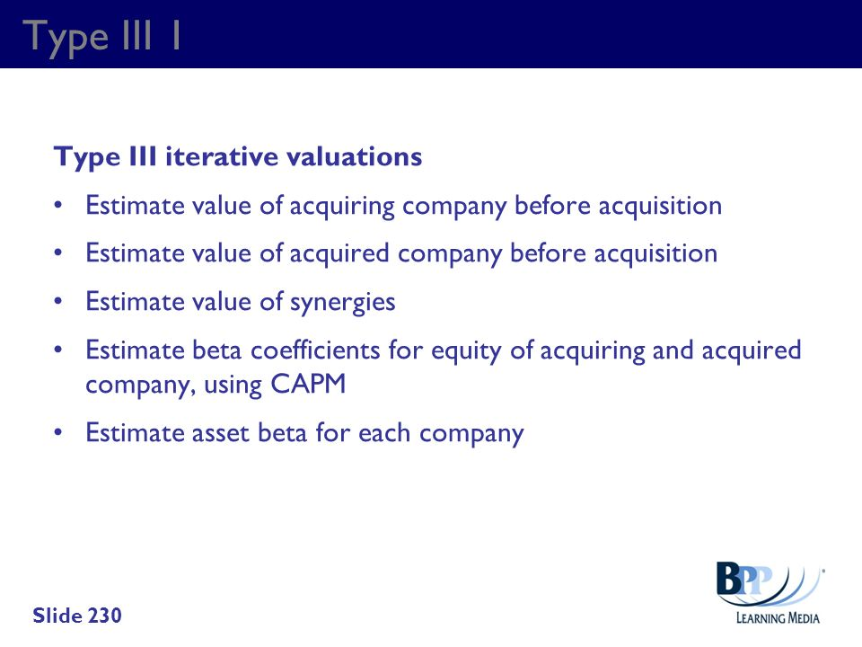 Type III 1 Type III iterative valuations