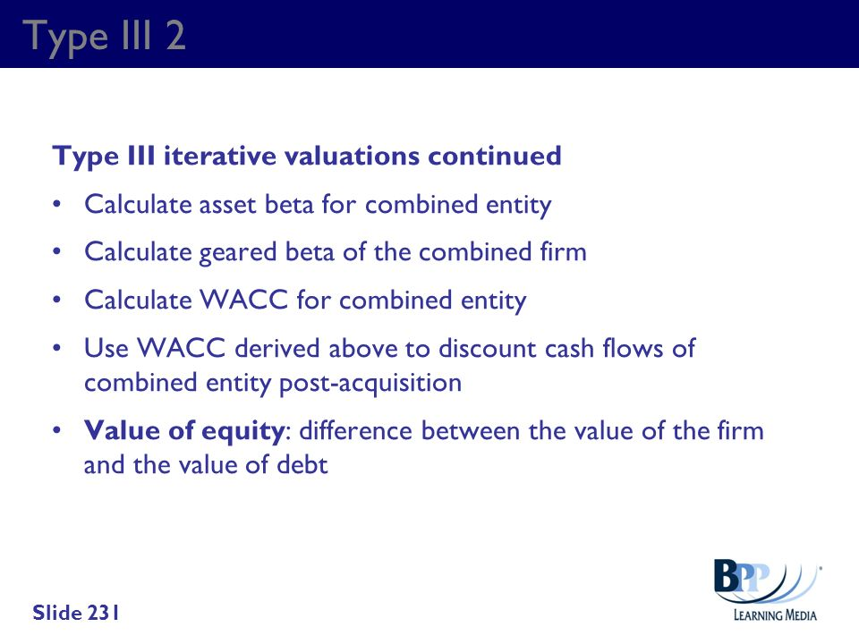 Type III 2 Type III iterative valuations continued
