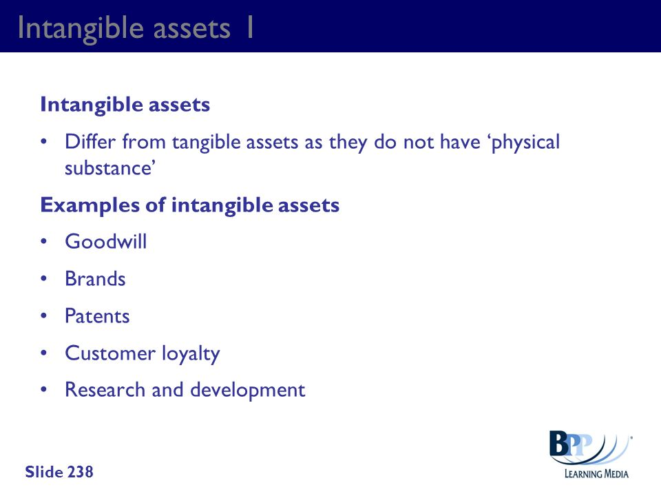Intangible assets 1 Intangible assets