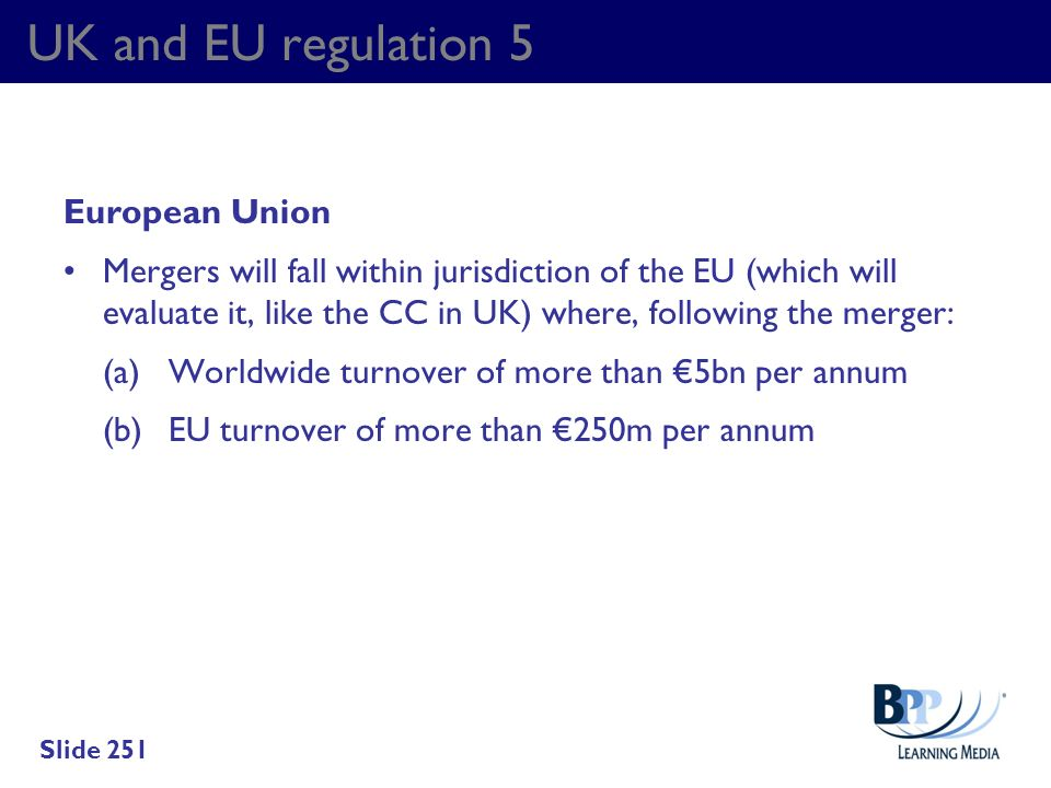UK and EU regulation 5 European Union