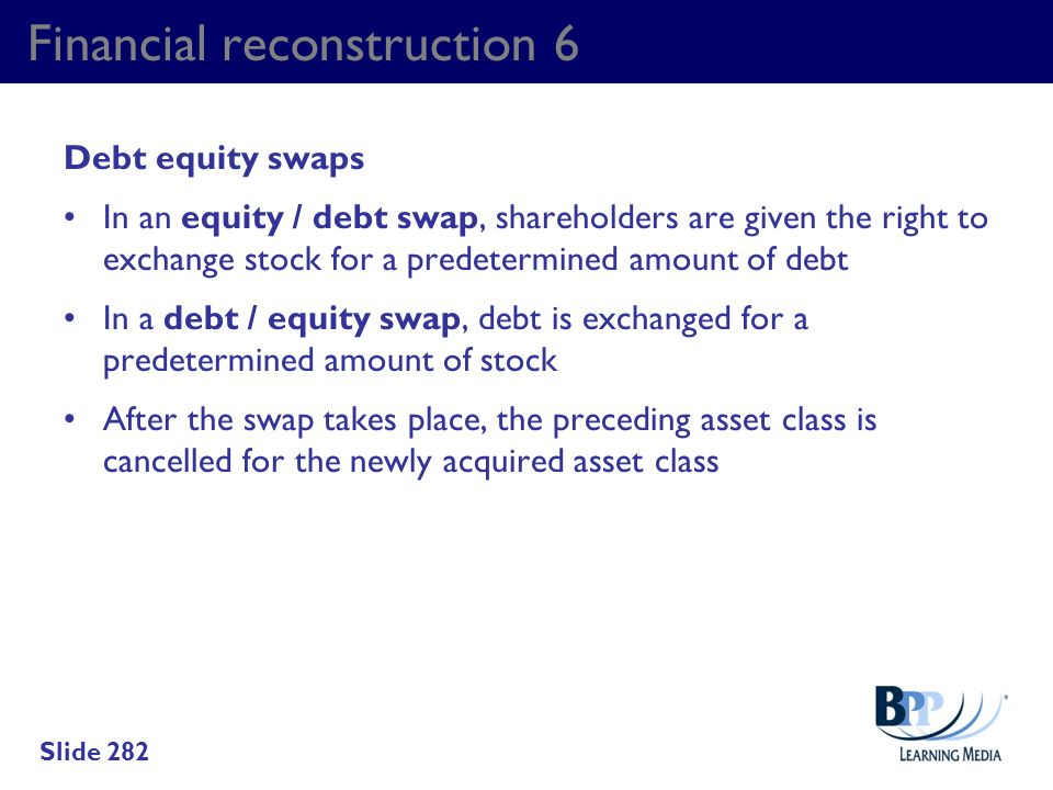 Financial reconstruction 6