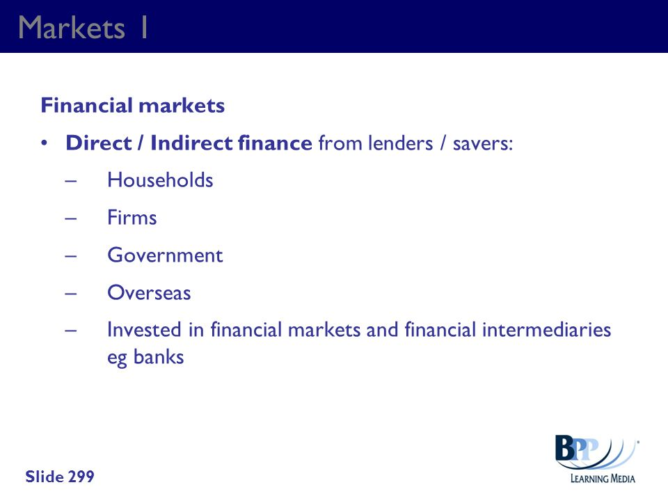 Markets 1 Financial markets