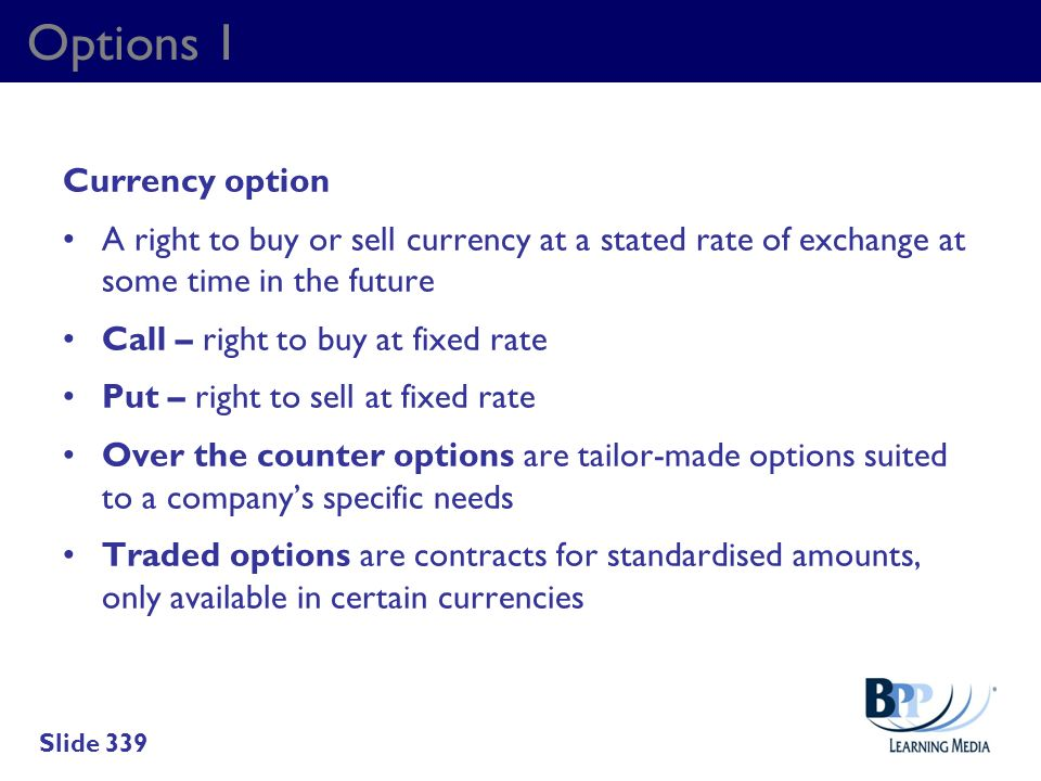 Options 1 Currency option